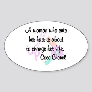 HAIR STYLIST QUOTE Sticker (Oval)