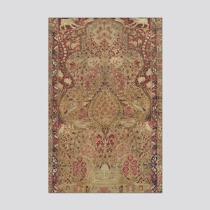 Red Vintage Antique Floral Persian Posters