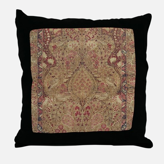 Red Vintage Antique Floral Persian Throw Pillow