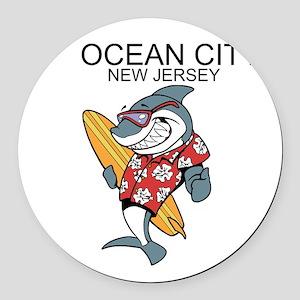 Ocean City, New Jersey Round Car Magnet