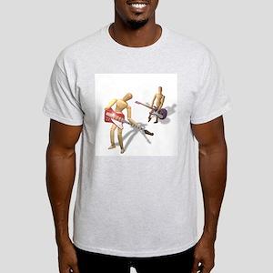 Mannequin Rock Show Ash Grey T-Shirt