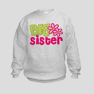 Big Sister Green Dot Sweatshirt