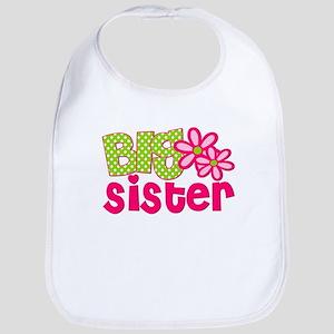 Big Sister Green Dot Bib