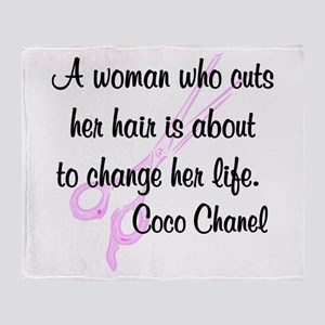 HAIR STYLIST QUOTE Throw Blanket