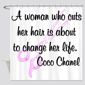 HAIR STYLIST QUOTE Shower Curtain