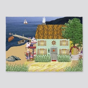 Lakeside Cottage 5'x7'Area Rug