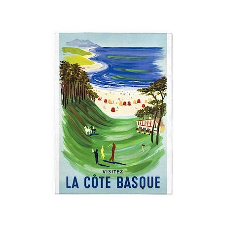 Golf, France, Travel, Vintage Poster 5'x7'Area Rug