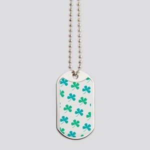 4 Leaf Clover St. Paddys Day Bagpipes Dog Tags