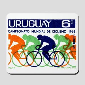 1969 Uruguay Racing Cyclists Postage Stamp Mousepa