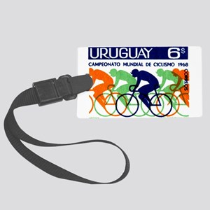 1969 Uruguay Racing Cyclists Postage Stamp Luggage