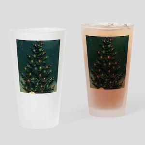 Vintage Christmas Tree Drinking Glass