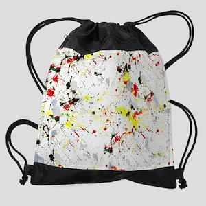 Paint Splatter Drawstring Bag