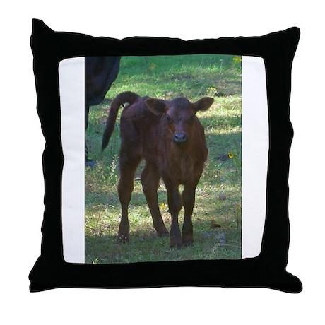 angus calf Throw Pillow
