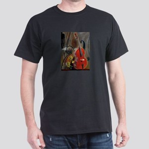 Upright Bass Art 1 Dark T-Shirt
