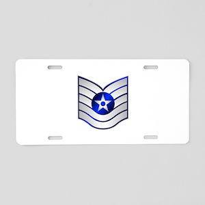 Air Force Technical Sergeant Aluminum License Plat