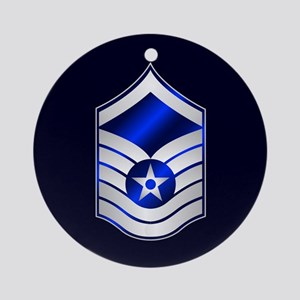 Air Force Master Sergeant Ornament (Round)