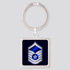 Air Force Master Sergeant Square Keychain