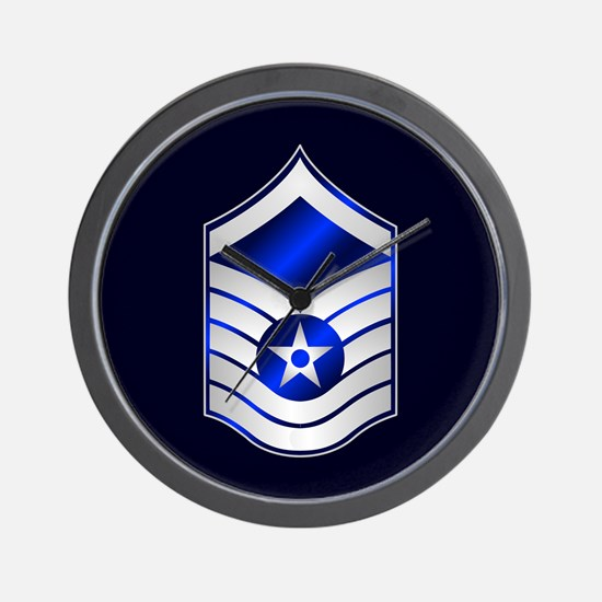 Air Force Master Sergeant Wall Clock