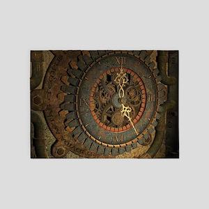 Steampunk, awesoeme clock, rusty metal 5'x7'Area R