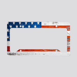 Primitive barnwood American F License Plate Holder