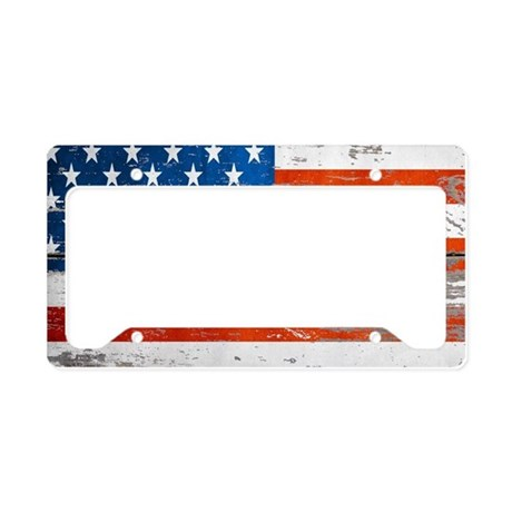 Primitive barnwood American F License Plate Holder by ADMIN_CP62325139