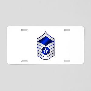 Air Force Master Sergeant Aluminum License Plate