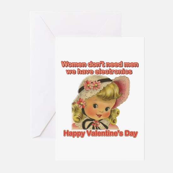 Women have chocolate Valentin Greeting Cards (Pack