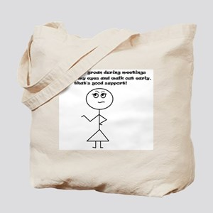 Good Support Girl Tote Bag