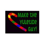 Make the Yuletide Gay Rectangle Magnet