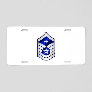 Air Force First Sergeant E-7 Aluminum License Plat