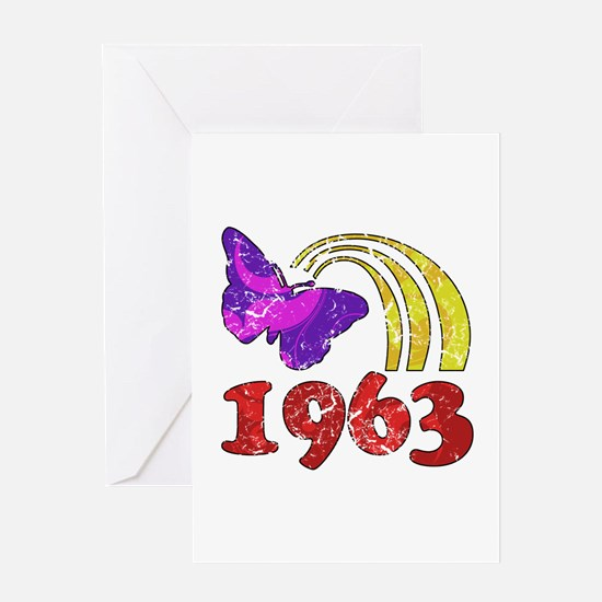 1963 Birthday (Colorful) Greeting Card