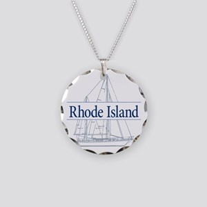 Rhode Island - Necklace Circle Charm