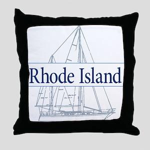 Rhode Island - Throw Pillow