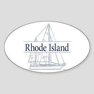 Rhode Island - Sticker (Oval)