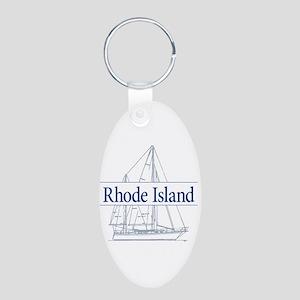 Rhode Island - Aluminum Oval Keychain