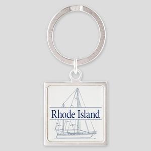 Rhode Island - Square Keychain