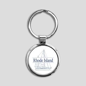Rhode Island - Round Keychain