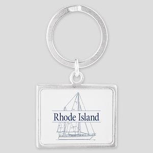 Rhode Island - Landscape Keychain