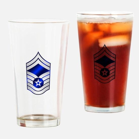 Air Force Senior Master Sergeant Drinking Glass