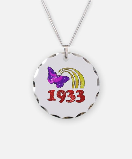 1933 Birthday (Colorful) Necklace