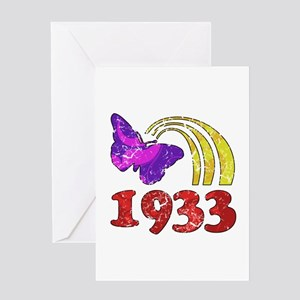 1933 Birthday (Colorful) Greeting Card