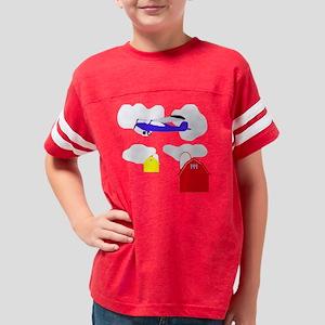 Cartoon Airplane T-Shirts for Youth Football Shirt