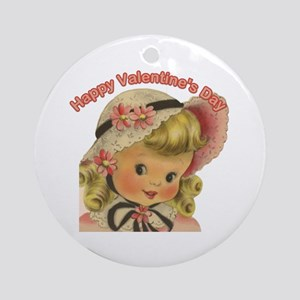 Girl - Happy Valentines Day Ornament (Round)
