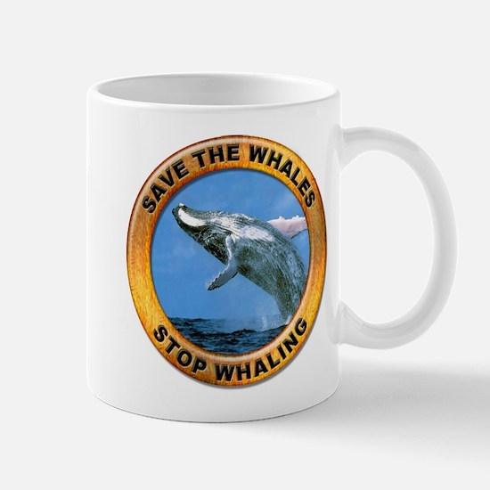 Save Whales Stop Whaling Mug