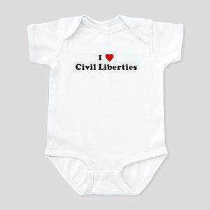 I Love Civil Liberties Infant Bodysuit