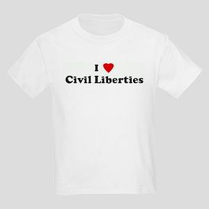 I Love Civil Liberties Kids T-Shirt