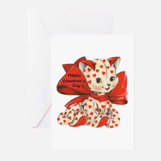 Cat- Happy Valentine's Day Greeting Cards (Package