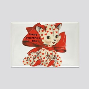 Cat- Happy Valentine's Day Rectangle Magnet