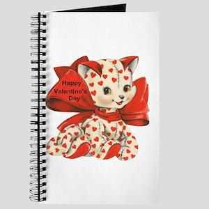 Cat- Happy Valentine's Day Journal