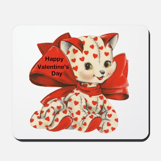 Cat- Happy Valentine's Day Mousepad